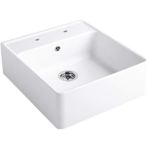 Villeroy & Boch BUTLER 60 Belfast Ceramic Sink with 2 tap holes