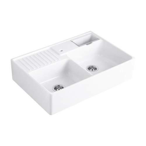 Villeroy & Boch BUTLER 2.25 Bowl Belfast Sink in White