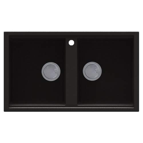 Reginox Best 450 2.0 Bowl Inset Granite Sink - Black