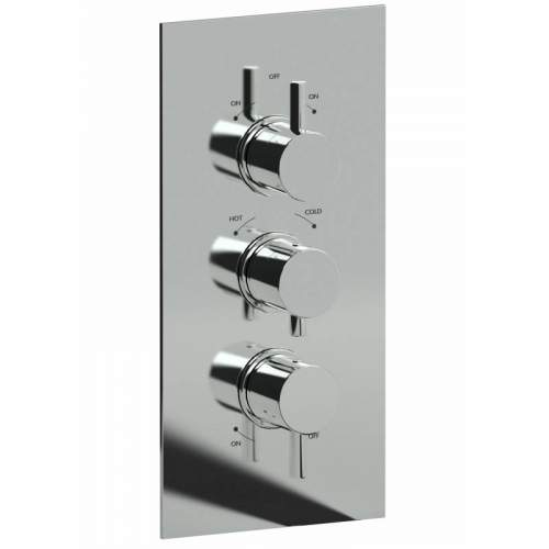 Abode HARMONIE 3 Control Thermostatic Shower Valve - 3 Exits
