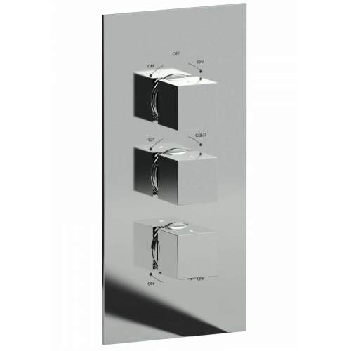 Abode Zeal 3 Control Thermostatic Shower Valve - 3 Exits