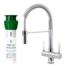 Bluci FiltroPro Professional Filter Kitchen Tap with White Handles
