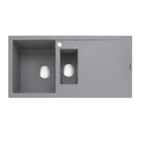Caple Sotera 150 Inset Kitchen Sink With Drainer - Pebble Grey