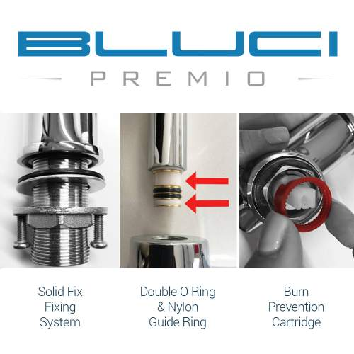 Bluci Curvo Designer Kitchen Mixer Tap