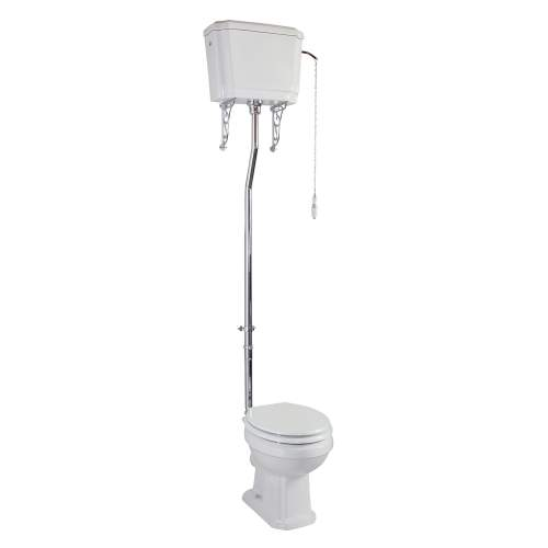 Aquabro Cromford Traditional High Level Pan & Cistern with Seat & Pipe Kit