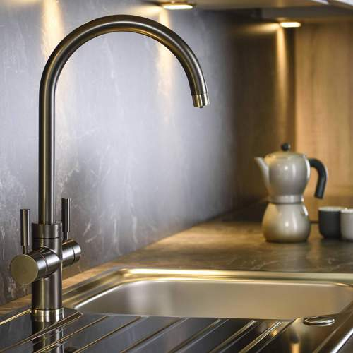 Abode PRONTEAU  Prostream 3 in 1 Kitchen Tap in Graphite - PT1103