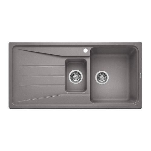 Blanco SONA 6 S Silgranit® PuraDur II® 1.5 Bowl Inset Kitchen Sink - Alumetallic