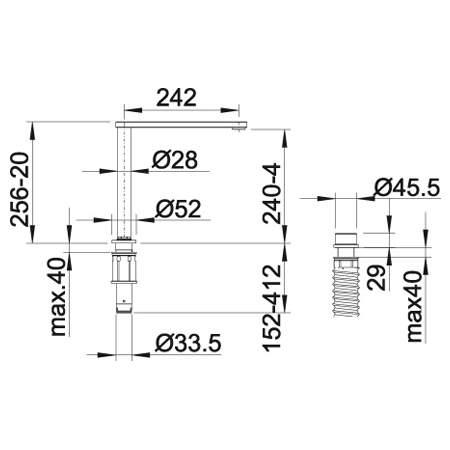 Blanco ELOSCOPE-F II Kitchen Tap in Chrome - BM4150CH