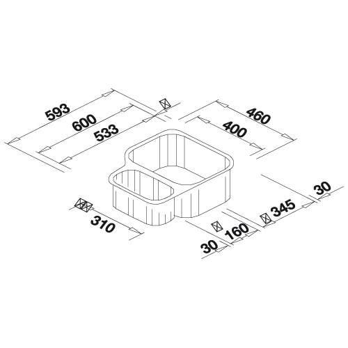 Blanco SUPREME 533-U 1.5 Bowl Undermount Kitchen Sink - BL450767