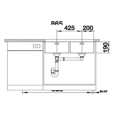 Blanco ANDANO 400/400-U Double Bowl Undermount Kitchen Sink