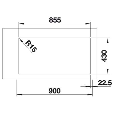 Blanco ANDANO 400/400-IF Double Bowl Inset Kitchen Sink - BL467008