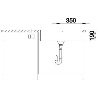 Blanco ANDANO 700-IF/A Large Single Bowl Inset Kitchen Sink with Tap Ledge