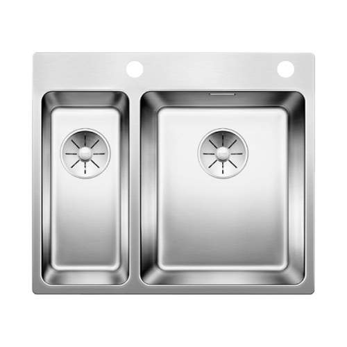 Blanco ANDANO 340/180-IF/A 1.5 Bowl Inset Kitchen Sink