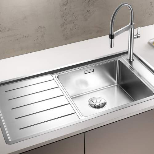 Blanco ANDANO XL 6 S-IF Single Bowl with Drainer Inset Kitchen Sink - BL467838