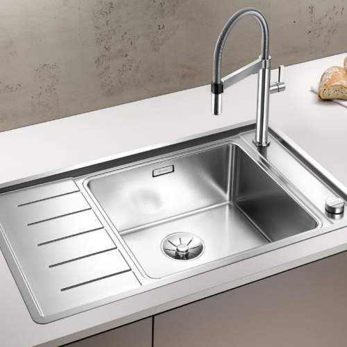 Blanco ANDANO XL 6 S-IF COMPACT Single Bowl with Drainer Inset Kitchen Sink - BL467840
