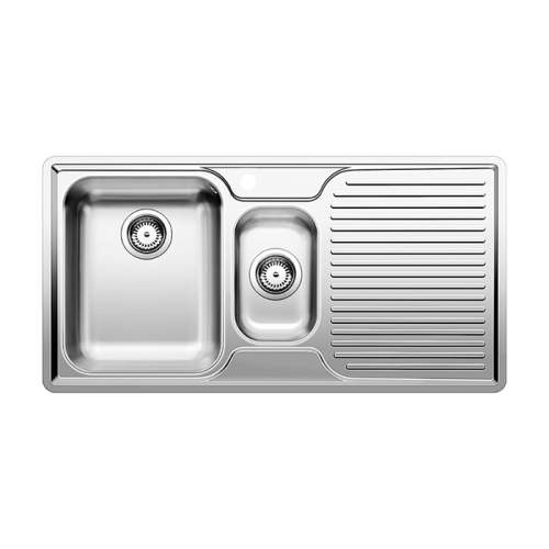 Blanco CLASSIC 6 S-IF 1.5 Bowl Inset Kitchen Sink with Drainer - BL453564