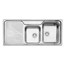 Blanco CLASSIC 8 S 1.75 Bowl Inset Kitchen Sink with Drainer - BL450715