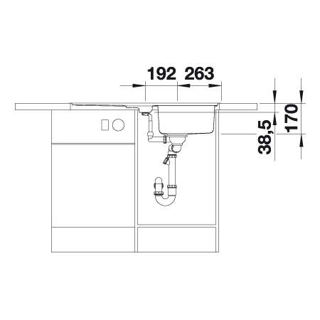 Blanco CLASSIC PRO 5 S-IF 1.5 Bowl Inset Kitchen Sink with Drainer - BL453565