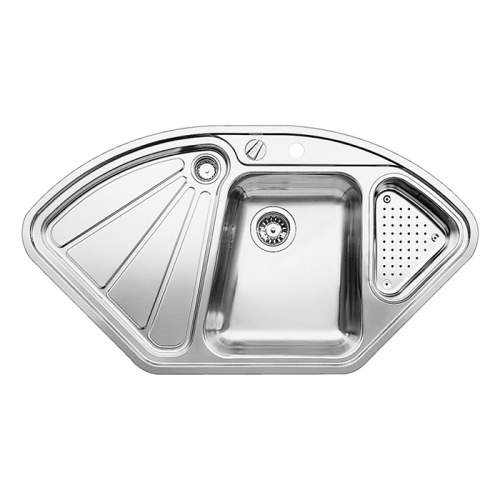 Blanco DELTA-IF 1.5 Bowl Inset Corner Kitchen Sink - BL450824