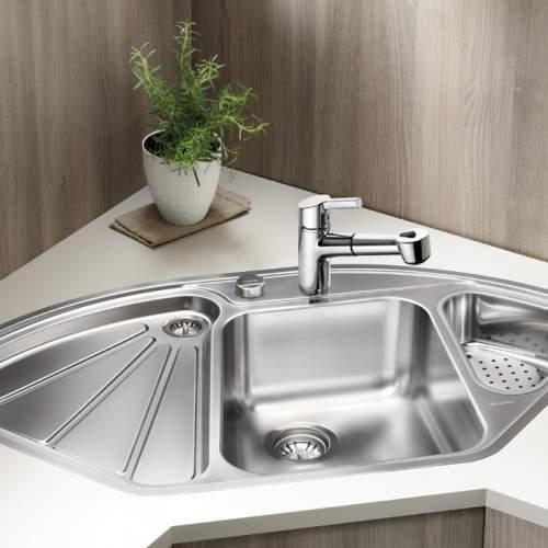 Blanco DELTA-IF 1.5 Bowl Inset Corner Kitchen Sink - BL450824