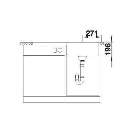Blanco DIVON II  5 S-IF Single Bowl Inset Kitchen Sink with Drainer - BL467018