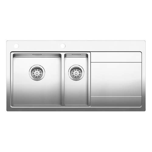 Blanco DIVON II  6 S-IF 1.5 Bowl Inset Kitchen Sink with Drainer - BL467020