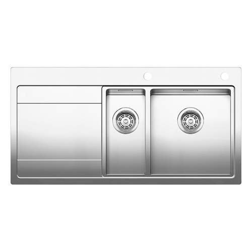 Blanco DIVON II  6 S-IF 1.5 Bowl Inset Kitchen Sink with Drainer - BL467021