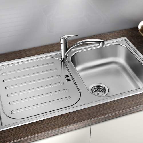 Blanco FLEX PRO 45 S Single Bowl Inset Kitchen Sink with Drainer - BL467842