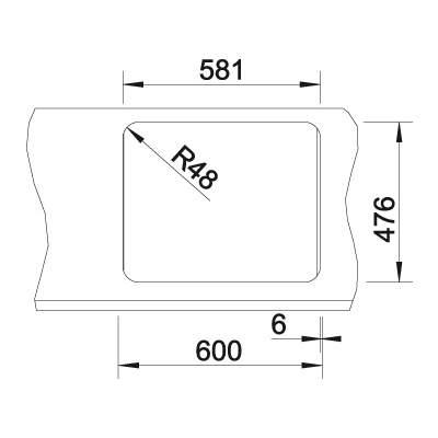 Blanco LANTOS 6-IF 1.5 Bowl Inset Kitchen Sink - BL450905