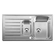 Blanco LANTOS 6 S 1.5 Bowl Inset Kitchen Sink with Drainer - BL450820