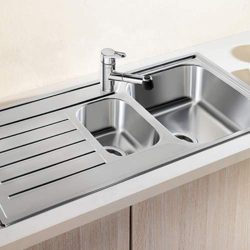 Blanco LANTOS 6 S 1.5 Bowl Inset Kitchen Sink with Drainer - BL450819
