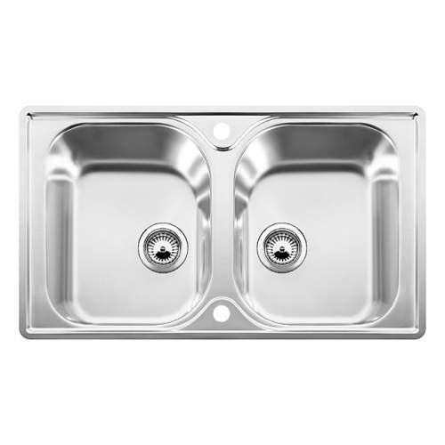 Blanco LANTOS 8-IF Double Bowl Inset Kitchen Sink - BL453641