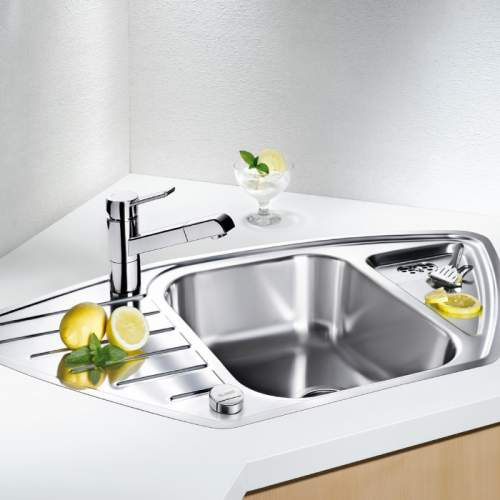 Blanco LANTOS 9E-IF 1.5 Bowl Inset Corner Kitchen Sink - BL450886