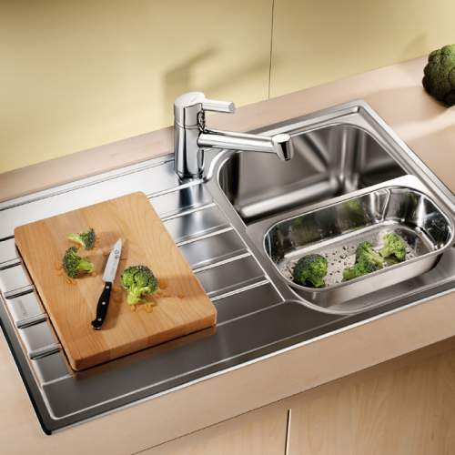 Blanco LIVIT 45 S Single Bowl Inset Kitchen Sink with Drainer - BL450835
