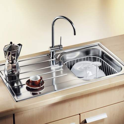 Blanco MEDIAN 45 S Single Bowl Inset Kitchen Sink with Drainer - BL450772