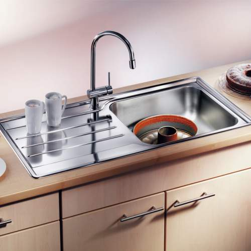 Blanco MEDIAN XL 6 S Single Bowl Inset Kitchen Sink with Drainer - BL450774
