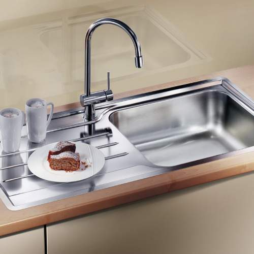 Blanco MEDIAN XL 6 S-IF Single Bowl Inset Kitchen Sink with Drainer - BL453266