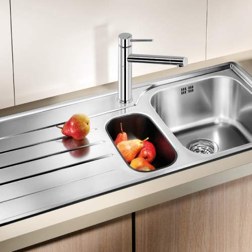 Blanco MEDIAN 6 S 1.5 Bowl Inset Kitchen Sink with Drainer - BL450770