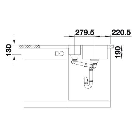 Blanco MEDIAN 6 S-IF 1.5 Bowl Inset Kitchen Sink with Drainer - BL453273
