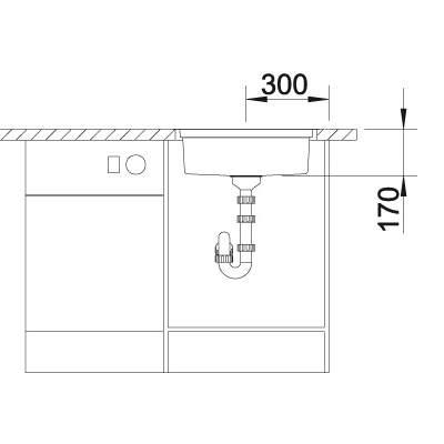 Blanco RONIS-IF Round Bowl Inset Kitchen Sink - BL467025