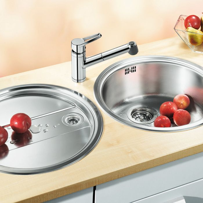 Blanco RONDO SET Round Bowl Sink and Drainer - Sinks-Taps.com