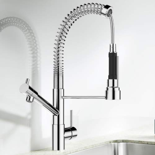Blanco MASTER-S BABY Professional Style Kitchen Tap with Spray Rinse