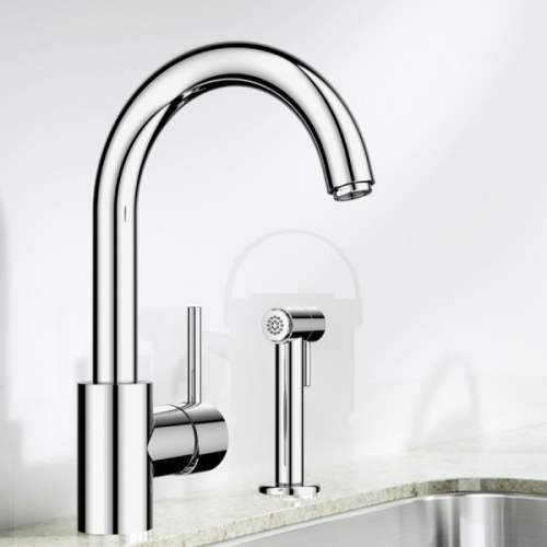 Blanco MENU RINSE Kitchen Tap with Separate Handspray in Chrome - BM2800CH