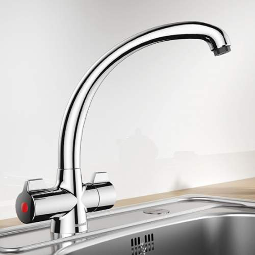 Blanco OPERA Eco Flow Regulated Twin Lever Kitchen Tap - BM6006
