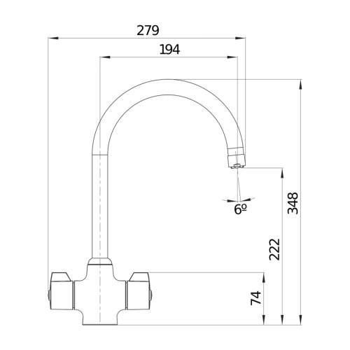 Blanco SILK Dual Lever Kitchen Tap in Chrome - BM4550CH