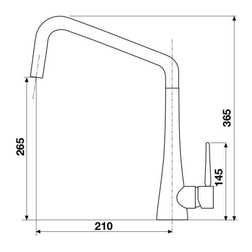 Blanco SPIRE Single Lever Kitchen Tap in Chrome - BM3030CH
