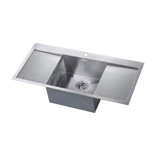 ZENUNO DEEP Single Bowl Kitchen Sink With Double Drainer