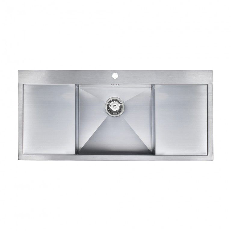 ZENUNO DEEP 1.0 Bowl Sink With Double Drainer - Sinks-Taps.com