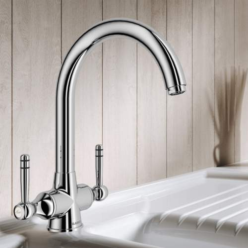 Blanco STRAND Twin Lever Kitchen Tap