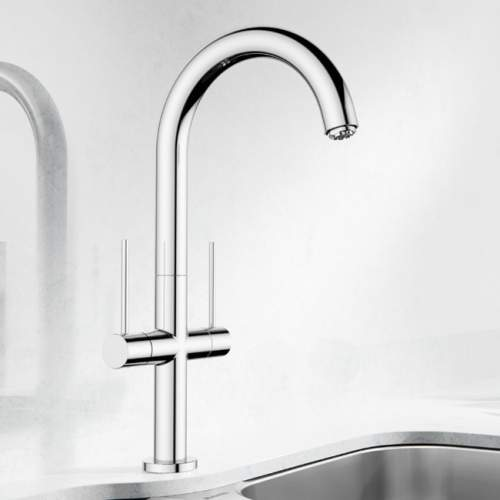 Blanco TRIM II Kitchen Tap with Long Reach Spout in Chrome - BM1600CH